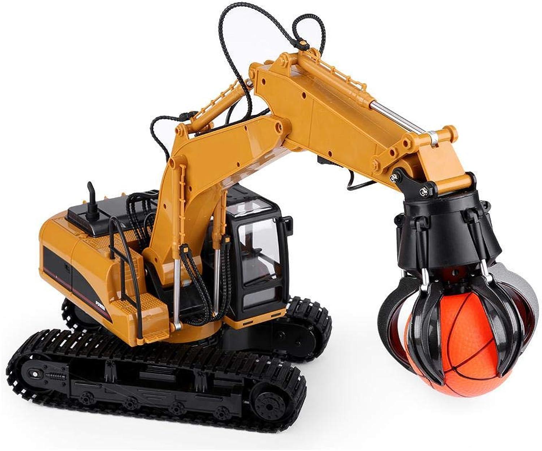 Dilwe RC Bagger Spielzeug, 2.4G 16CH RC Elektro-BAU-Spielzeug 1 14 Fernsteuerungsmodell-Grabber-Technik-LKW-Fahrzeug für Kinder B07L314QBJ Internationale Wahl    Spezielle Funktion