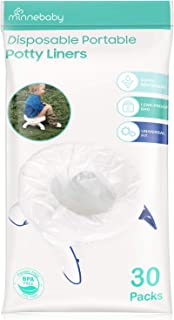 Minne Baby Disposable Potty Liners, Refill Potty Bags, Universal Fit, 30 Counts
