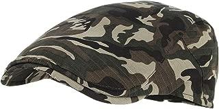 Men's Retro Camouflage Beret Hats Newsboy Cap Strip Cabbie Hat Flat Cap