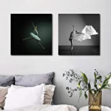 Mural Canvas Painting Modern Minimalist Black and White Decorative Ballet Dancer Angel Canvas Art Poster Print Wall Pictur...