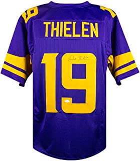 Adam Thielen Autographed Minnesota Vikings Custom Color Rush Football Jersey JSA