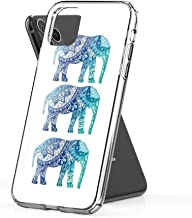 Crystal Clear Phone Cases Blue Elephant Case Cover Compatible for iPhone (11 Pro Max)