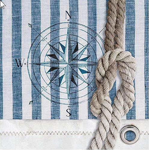 Ambiente Serviette Motiv : Compass and Rope - Kompass + Knoten maritim - 20 Servietten pro Packung, 33x33 cm