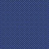 babrause® Baumwollstoff Pünktchen Royal Blau Webware