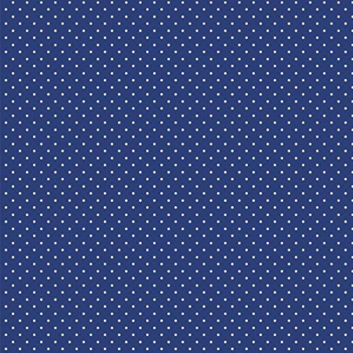 babrause® Baumwollstoff Pünktchen Royal Blau Webware Meterware Popeline OEKOTEX 150cm breit - Ab 0,5 Meter