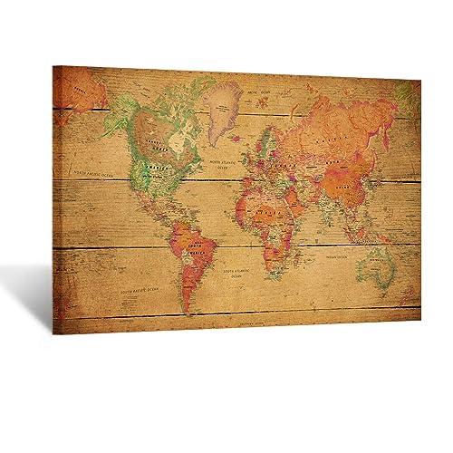 Map Of World Amazon Com