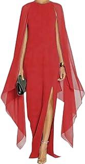 78e0b9682d Nanquan-women clothes NQ Women's Summer O-Neck Batwing Sleeve Split Chiffon  Evening Maxi