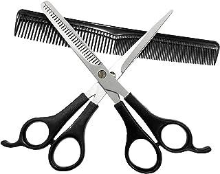 Sunwuun Tijeras Peluqueria Kit Tijeras de peluquería Set Profesional 3PC Tijeras de Pelo Tijeras de Corte Salon Barber Hair Cutting Thinning Set de peluquería Herramienta de Peinado