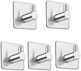 Plata Aluminio Colgadores Pared para Ba/ño Adhesivo 3M HIFOT Ganchos Adhesivos Ganchos para Toallas 6pcs Toallero de pared Toallero Autoadhesivo Redondo-Cromo Perchas Pared Cocina y Ba/ño