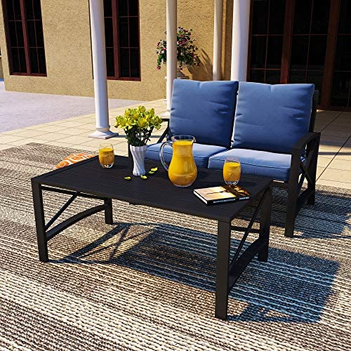 Best PatioFestival Outdoor Patio Conversation Sectional Set Patio Furniture Set Modern Loveseat with Cush