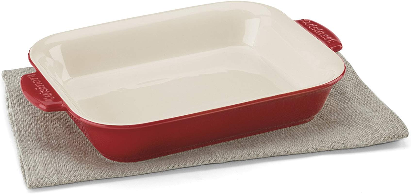 Cuisinart CCB30 27R Chef S Classic Ceramic Bakeware 2 Quart Medium Rectangular Baker Red