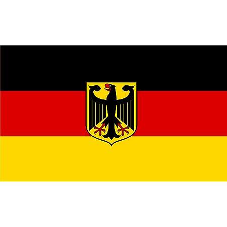 Etaia Premium Aufkleber 5 4 X 8 4 Cm Fahne Flagge Von Deutschland Ohne Wappen Adler Brd Sticker Motorrad Bike Auto Handy Auto