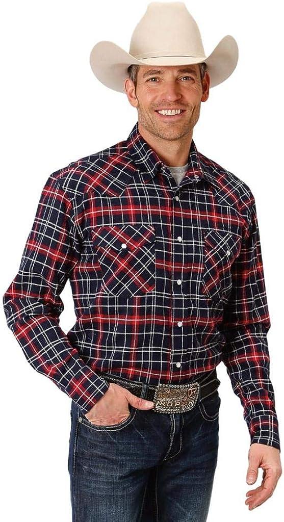 Roper Western Shirt Mens L/S Plaid Snap Red 03-001-0722-3685 RE