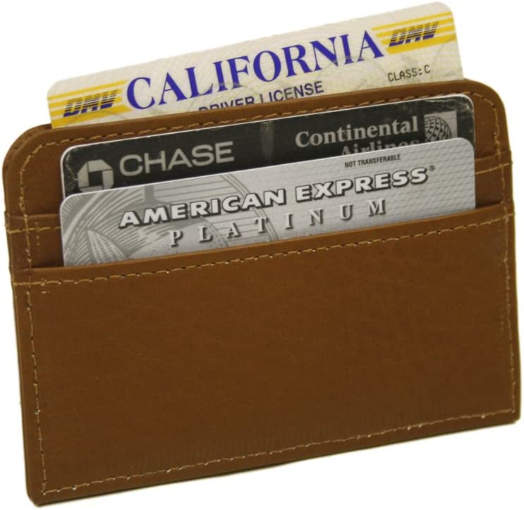 Piel Leather Slim Business Card One Max 71% OFF Albuquerque Mall Saddle Case Size