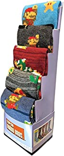 Super Mario Socks 5-Pack 8bit Casual Crew Socks for Men Size 8-12