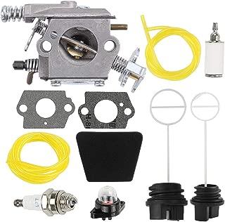Trustsheer 530069703 Carburetor fit Poulan PP220 PP260 SM4018 S1634 S1838 PP210 PPB1838LE Craftsman Chainsaw ZAMA C1Q-W8 C1Q-W14 C1Q-W14A WT-89 WT-891 Carb 545081885 with Air Filter Oil Fuel Cap