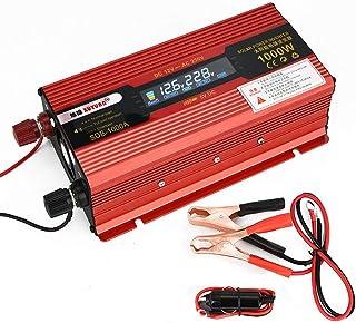 GBHJJ 1 000 W växelriktare, modifierad Sinus-likström 12 V till växelström 220 V bilkonverterare med LCD-skärm, med uttag ...