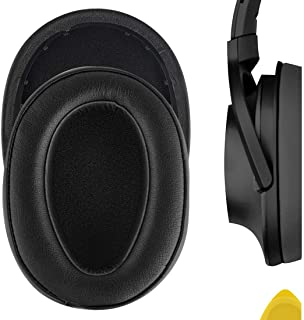 Geerkia イヤーパッド Sony MDR-100A MDR-100AAP MDR-H600A等対応交換用 ヘッドホンパッド イヤークッション(ブラック)