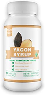 100% Pure Yacon Syrup Extract Capsules - 1 Month Supply