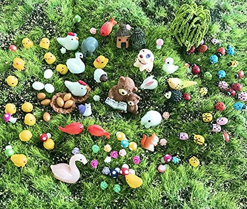 JKanruh 101 Pieces Miniature Animals,Fairy Garden...