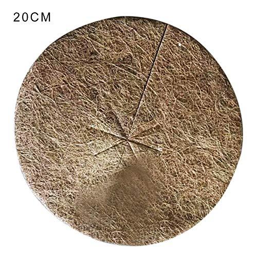 Diamètre de 20cm/30cm/40cm, Protection Hivernale pour Pot de Fleurs en Fibres de Noix de Coco, Disque de Paillage en Fibres de Chanvre, Tapis de Protection des Plantes 10PCS