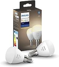 Philips Hue White 2-Pack Luster P45 E14 White 2-Pack Luster P45 E14, Smart Bulb, White, Bluetooth/Zigbee, LED, E14, Warm W...