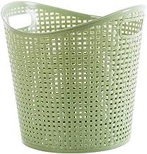 JUAN Storage Basket Dirty Clothes Bin Dirty Clothes Storage Basket Plastic Storage Bathroom Storage Toy Basket (Color : Gr...