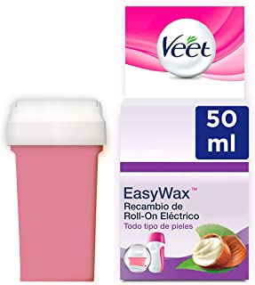 comprar comparacion Veet Cera Depilatoria Recambio Roll-On Eléctrico EasyWax con Manteca de Karité para Todo Tipo de Pieles, 50 ml