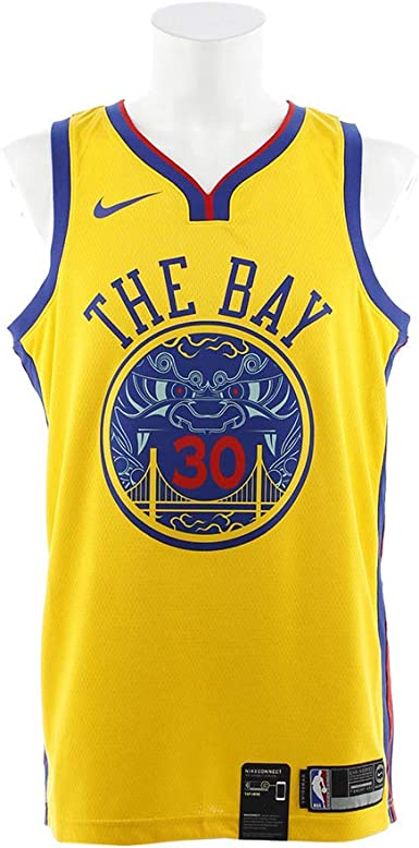 Amazon Com Nike Stephen Curry Golden State Warriors City Edition Swingman Jersey Gold Small Clothing