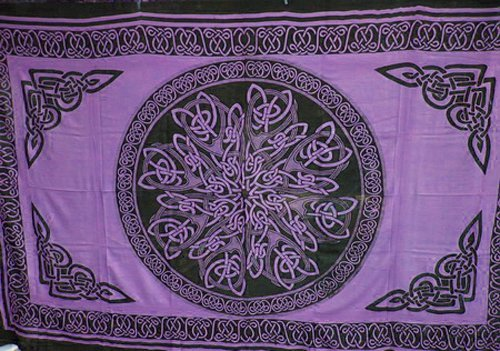 4Rissa Purple Celtic Knot Mandala Tapestry Wall Hanging Bedspread