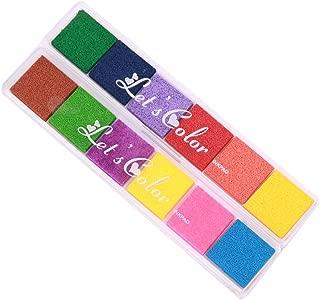 Almohadillas de tinta, huellas dactilares Pad por lomofila, no tóxico para sello de goma arte artesanía decoración de la boda (set 1)