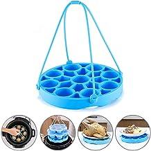 JUSTDOLIFE Egg Steamer Rack Insulation Pad Multipurpose Steamer Basket Silicone Steamer One Size Blue