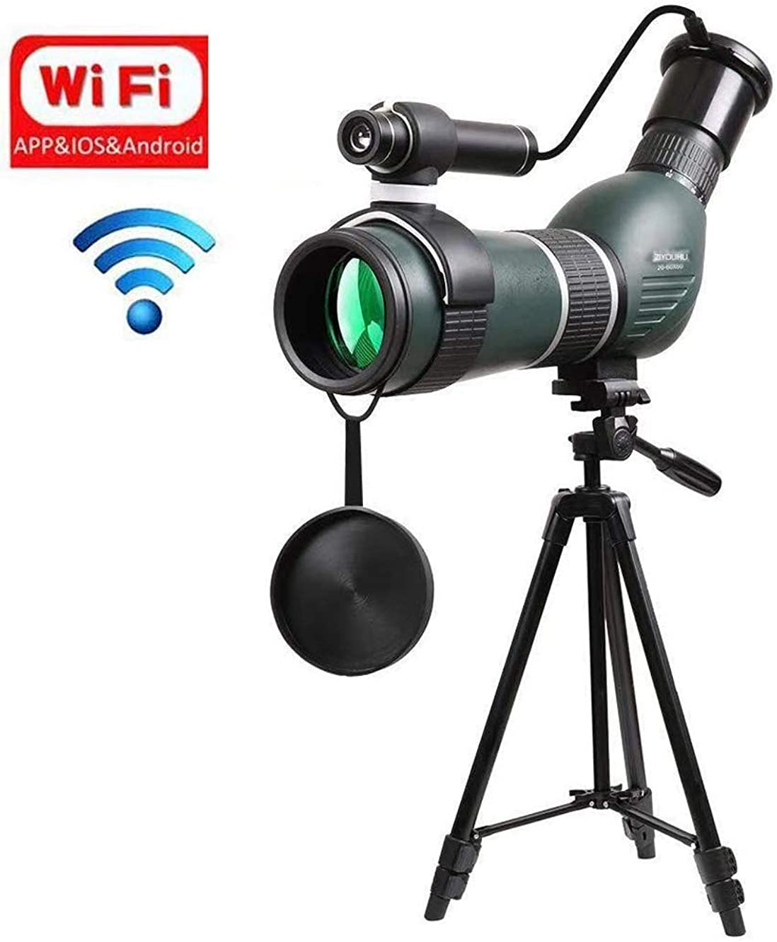 壁自動車病デジタル望遠鏡ナイトビジョン望遠鏡デジタルズーム単眼鏡大人と子供に適した三脚付きスマートフォン用望遠鏡スポーツ旅行天文学バードウォッチング