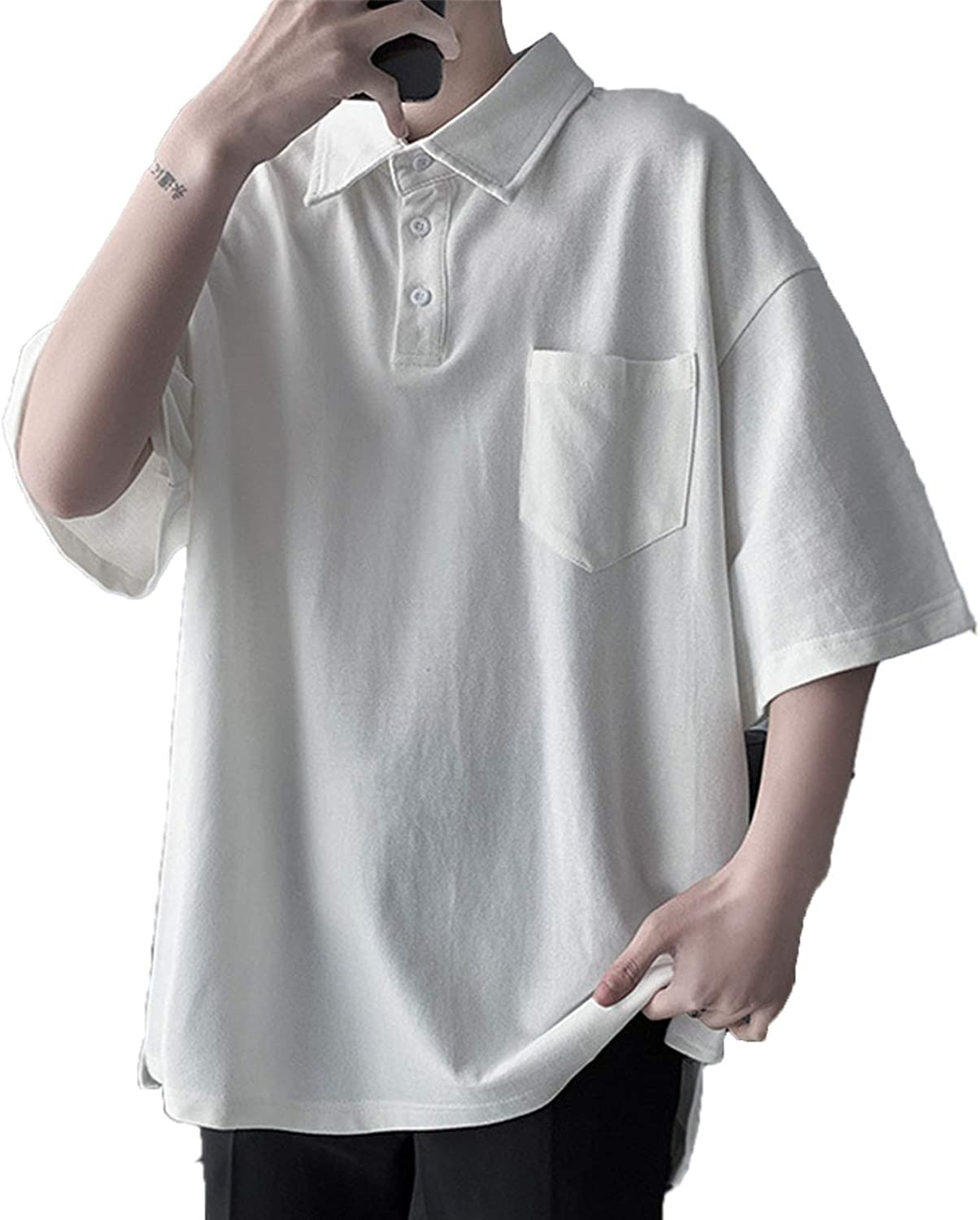 LHQ-HQ Men's Polo Shirt Short-Sleeved Loose Students Max 88% OFF OFFicial mail order T-Shirt A