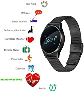Sports Smartwatch Fitness Tracker with Heart Rate/Blood Pressure Monitor Smart Wristband Call/Messages Reminder Activity Tracker Sleep Monitor for Iphone Ios Android M7