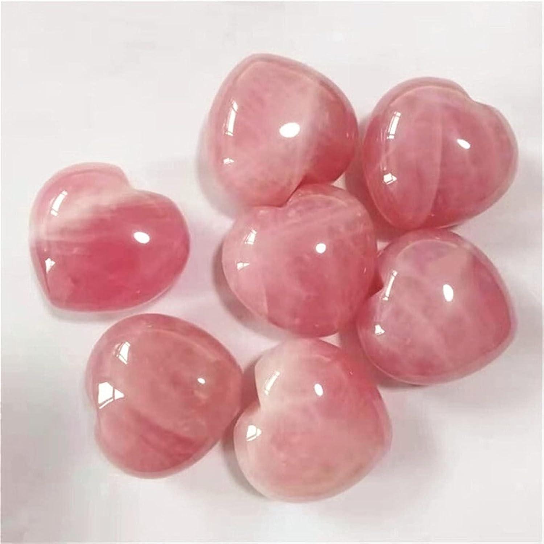 TongLingUSL Rose Quartz Heart Natural Minerals G Under Manufacturer OFFicial shop blast sales Crystals Stones
