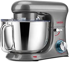 SanLidA Stand Mixer, All-Metal Series 6.5 Qt. Kitchen Electric Mixer with Dishwasher-Safe Dough Hooks, Flat Beaters, Whisk...