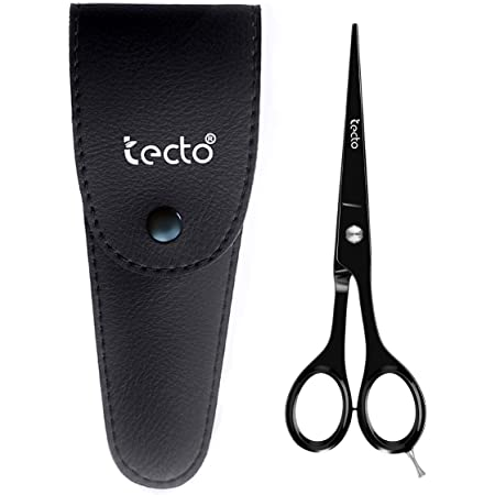 TECTO Hair Cutting Scissors Professional 6.6 inches - Stainless Steel Barber Scissors, Extra Sharp Hair Cutting Shears For Men & Women with Free Leather Case