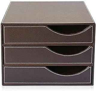 Armoire à fichiers Armoires de fichiers avec serrure et tiroir mobiles multi-fonctions Cabinet 3 tiroirs Couleur: Noir, Bu...