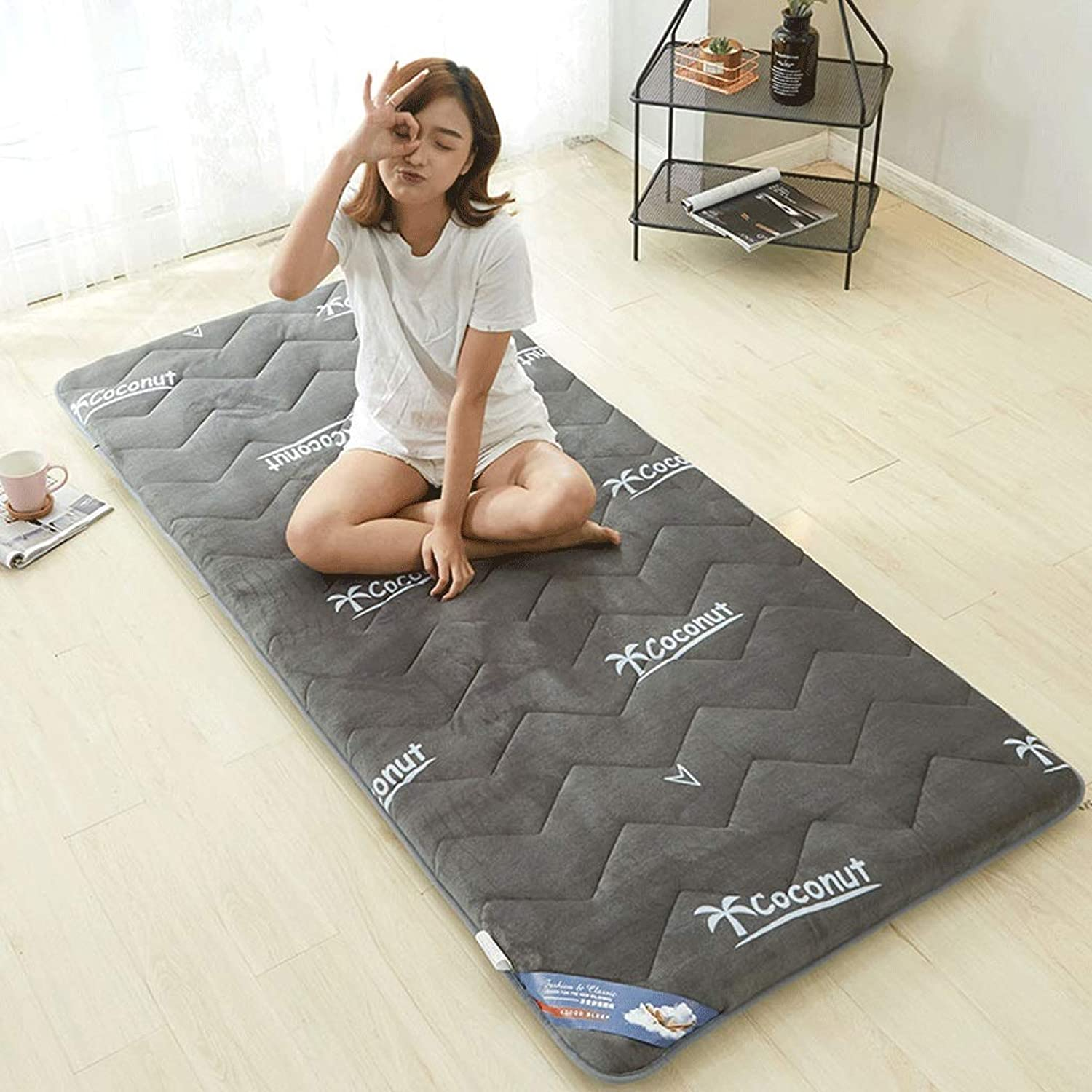 Student Dormitory Mattress Household Tatami Moisture Breathable Mat (color   1, Size   90x200cm)