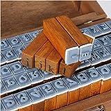 CCINEE conjunto de 70pcs estilo Vintage madera de goma letras del alfabeto número sellos