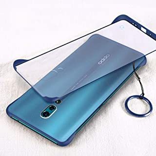 YEESOON Oppo Reno Case, Ultra Slim Matte Translucent Hard PC Case Four Corners Shockproof Back Cover with Ring Lanyard for...