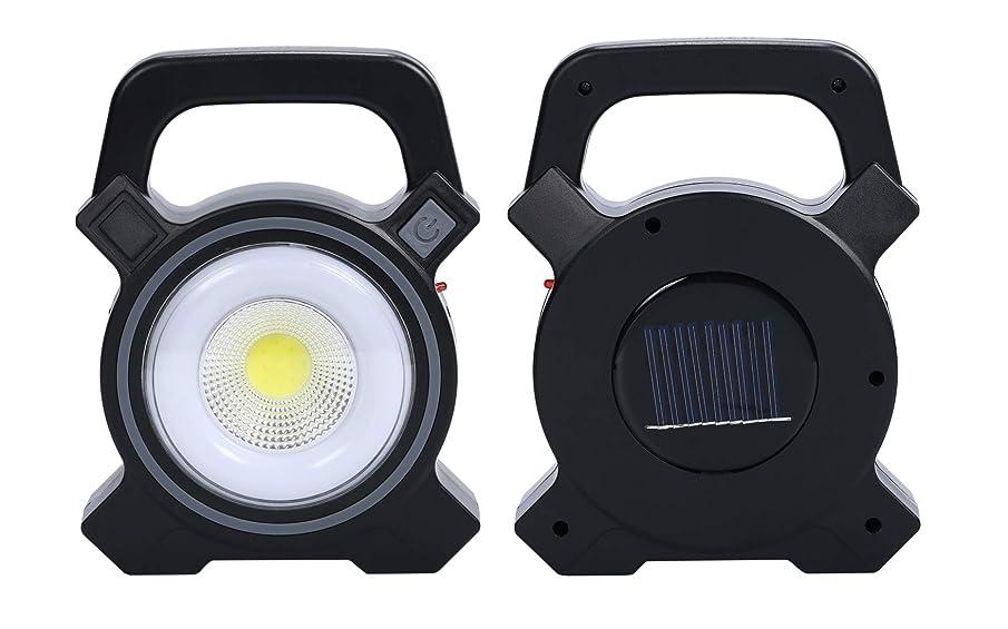 酸化するロードハウス誓いほうねん堂 ワークライト ソーラー 充電式 usb 充電 cob led 投光器 キャンプ フィッシング 倉庫 屋外 作業灯 非常灯
