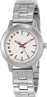 ساعة فاستراك فاندامينتالز بمينا بيضاء وعرض انالوج للنساء
