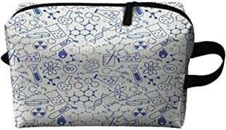Children Travel cosmetic bag Science Chemistry Geometry Math Nerd Geek and Genius Themed Design Artwork K11.4