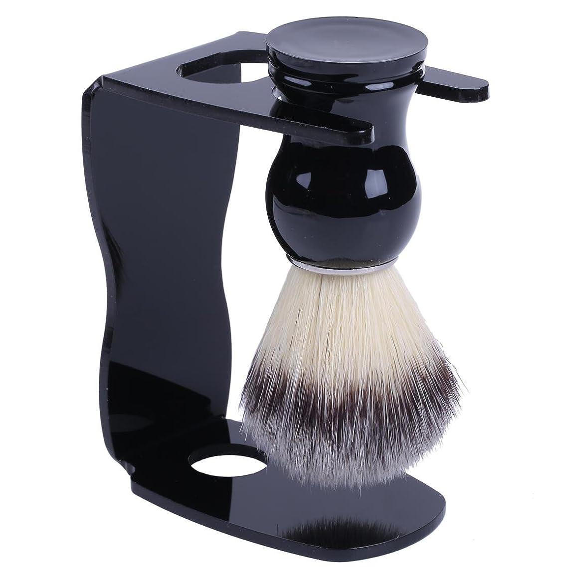 鷹あたり偏見泡立ちが違う アナグマ 毛100% スタンド付き シェービング ブラシ /髭剃り 洗顔 理容 マッサージ 美容 効果