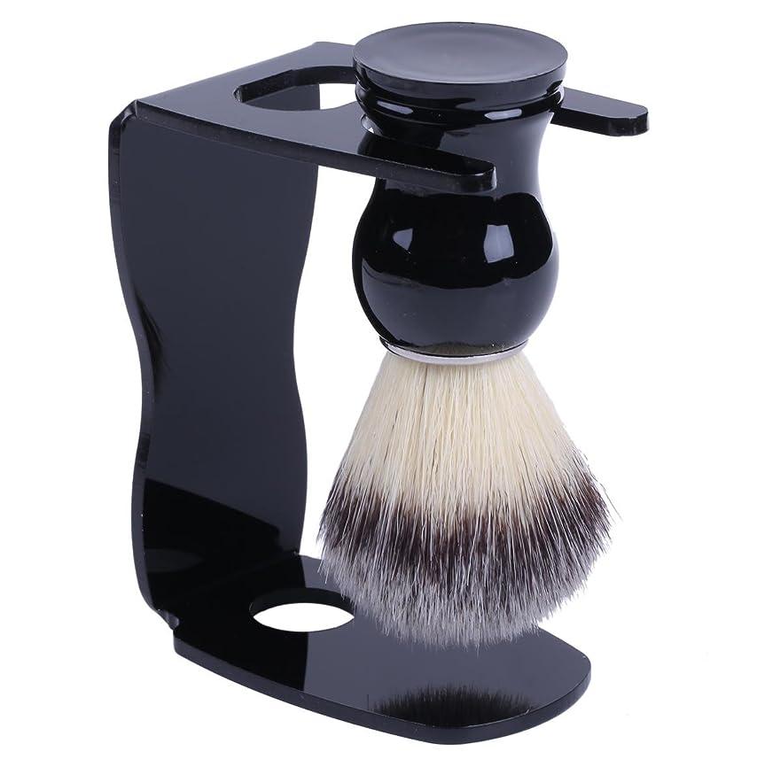 右弱まる買収泡立ちが違う アナグマ 毛100% スタンド付き シェービング ブラシ /髭剃り 洗顔 理容 マッサージ 美容 効果