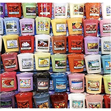 Yankee Candle Votives - Grab Bag of 10 Assorted Votive Candles (10 Ct Fresh Fragrances Mixed)
