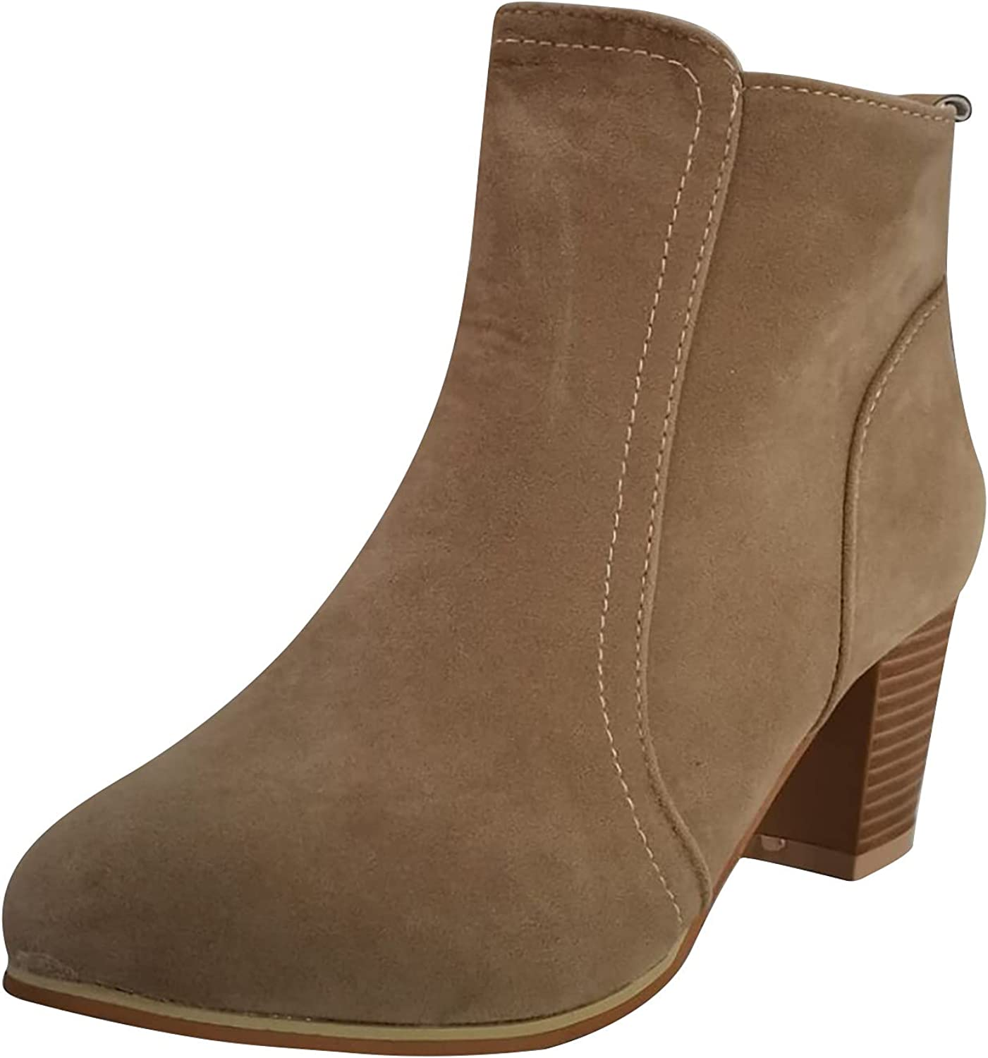 Women's Chelsea Boots Chunky Block Stacked Mid Purchase New Shipping Free Heel Ankle