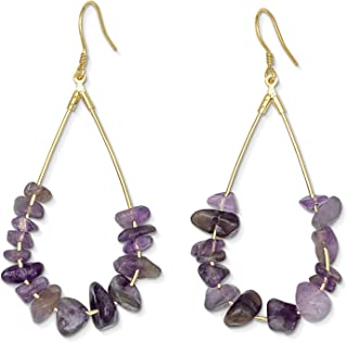 amethyst druzy earrings